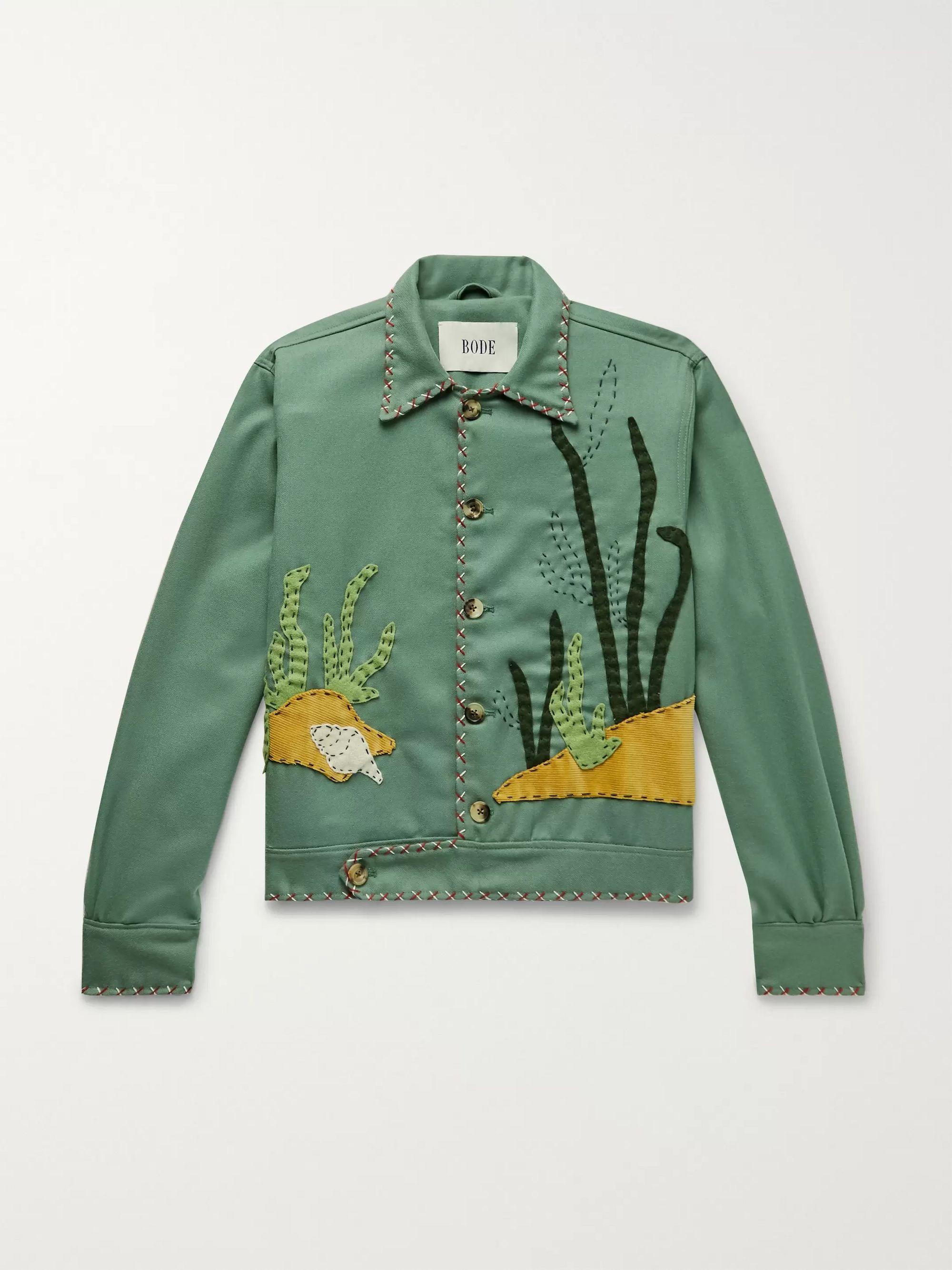 Appliquéd Wool Twill Jacket by Bode