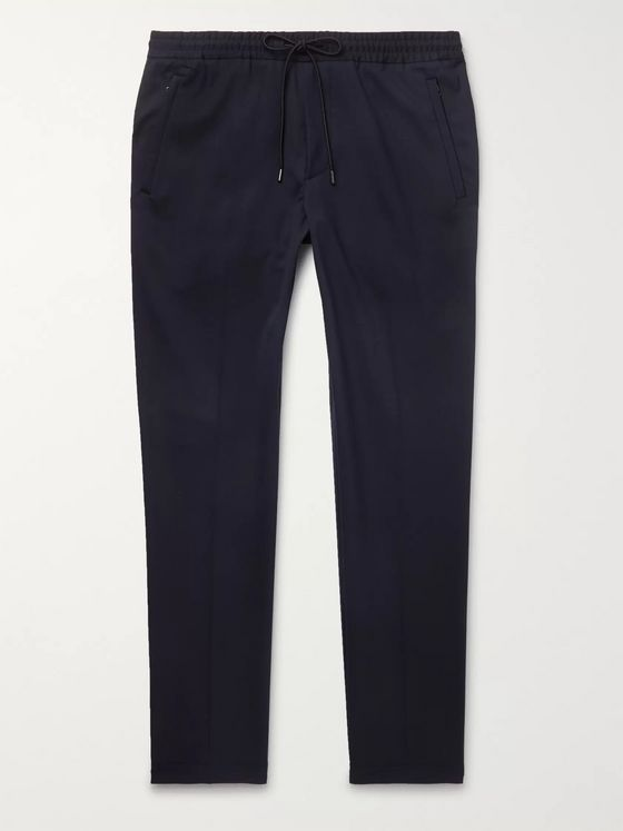 Hugo Boss Navy Slim-Fit Woven Drawstring Trousers