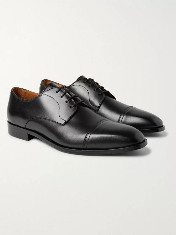 Hugo Boss Richmont Cap-Toe Leather Derby Shoes