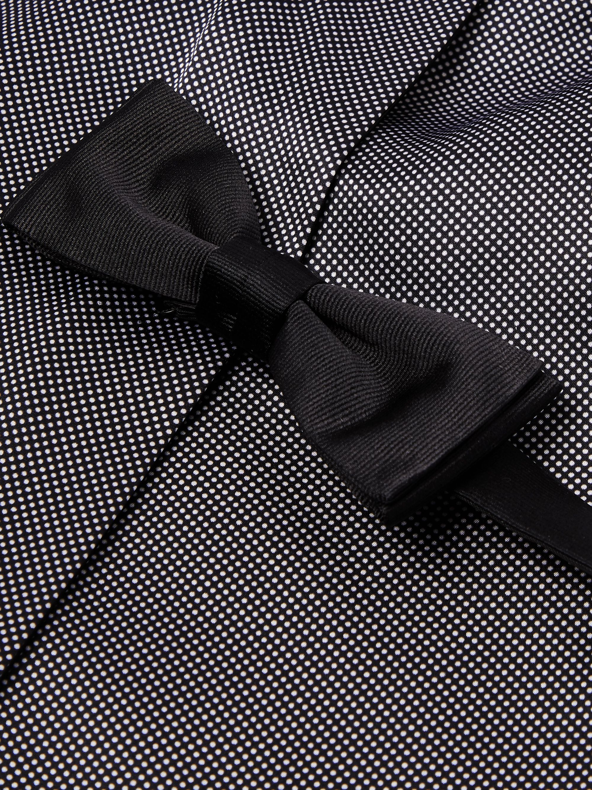 Hugo Boss Polka-Dot Silk Scarf and Pre-Tied Bow Tie Set