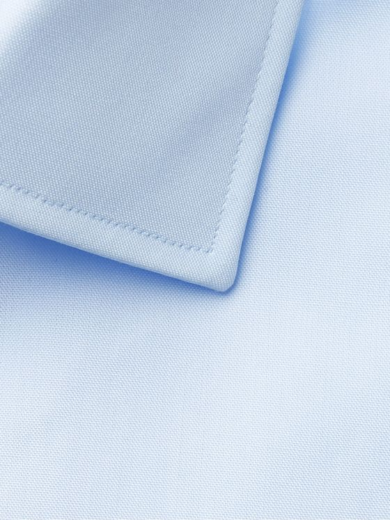 Hugo Boss Light-Blue Jessi Slim-Fit Cotton-Poplin Shirt