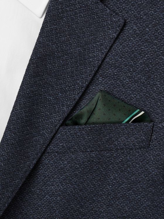 Hugo Boss Printed Silk Pocket Square