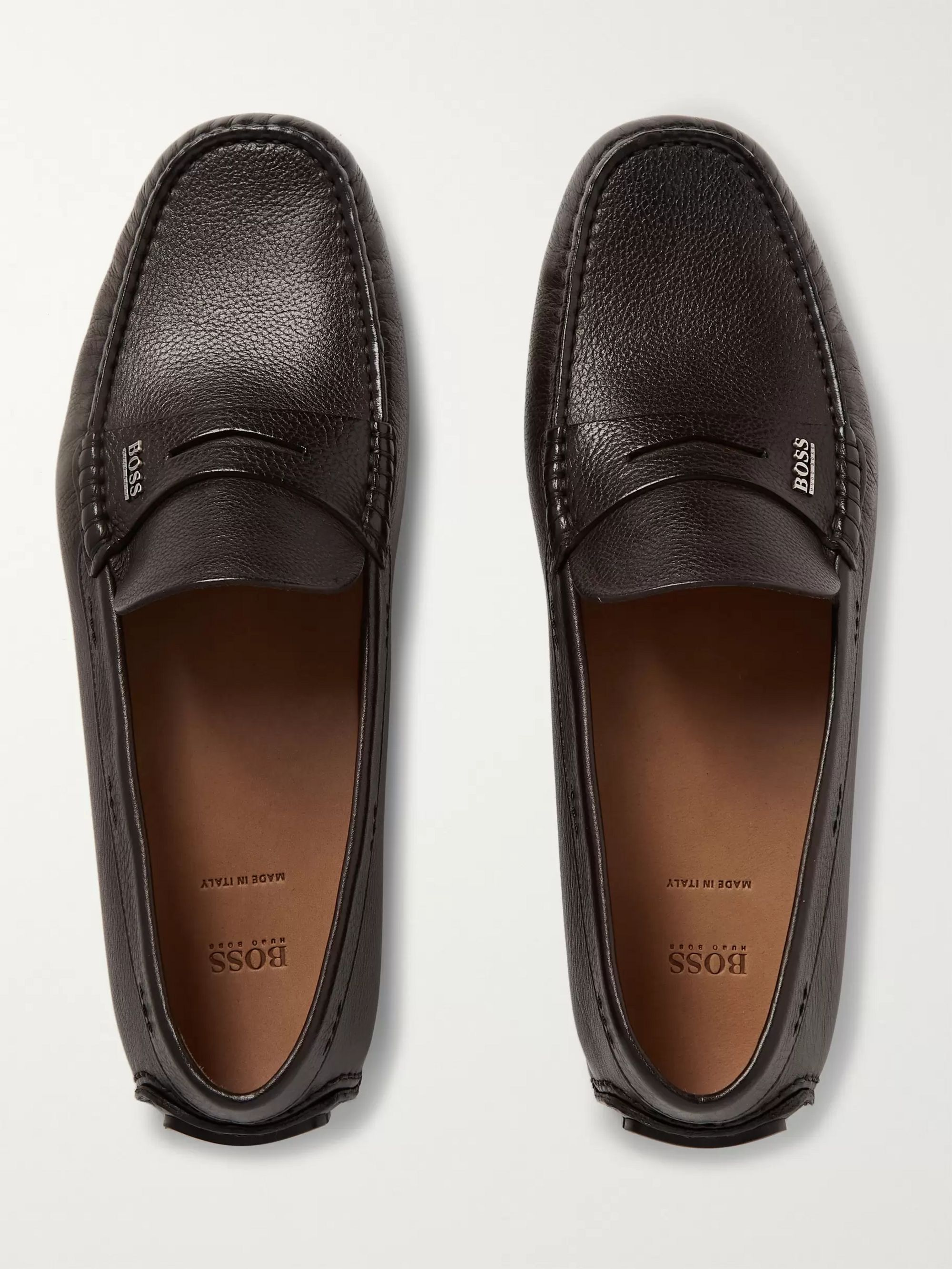 Hugo Boss Leather Driving Shoes
