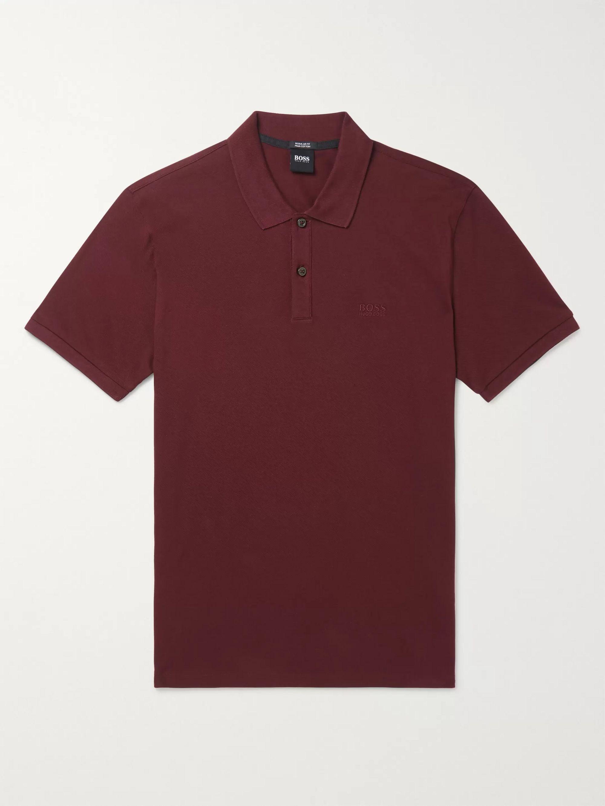 Pallas Mélange Cotton Piqué Polo Shirt