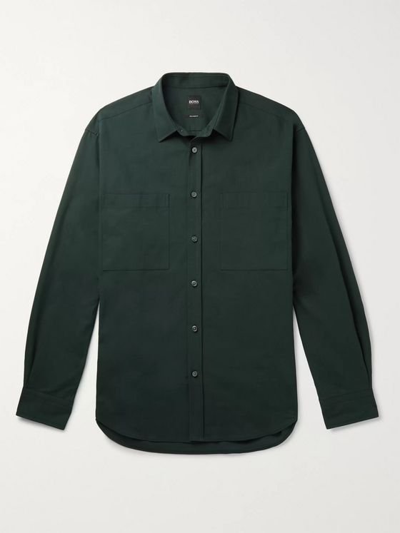 Hugo Boss Noah Cotton-Twill Overshirt