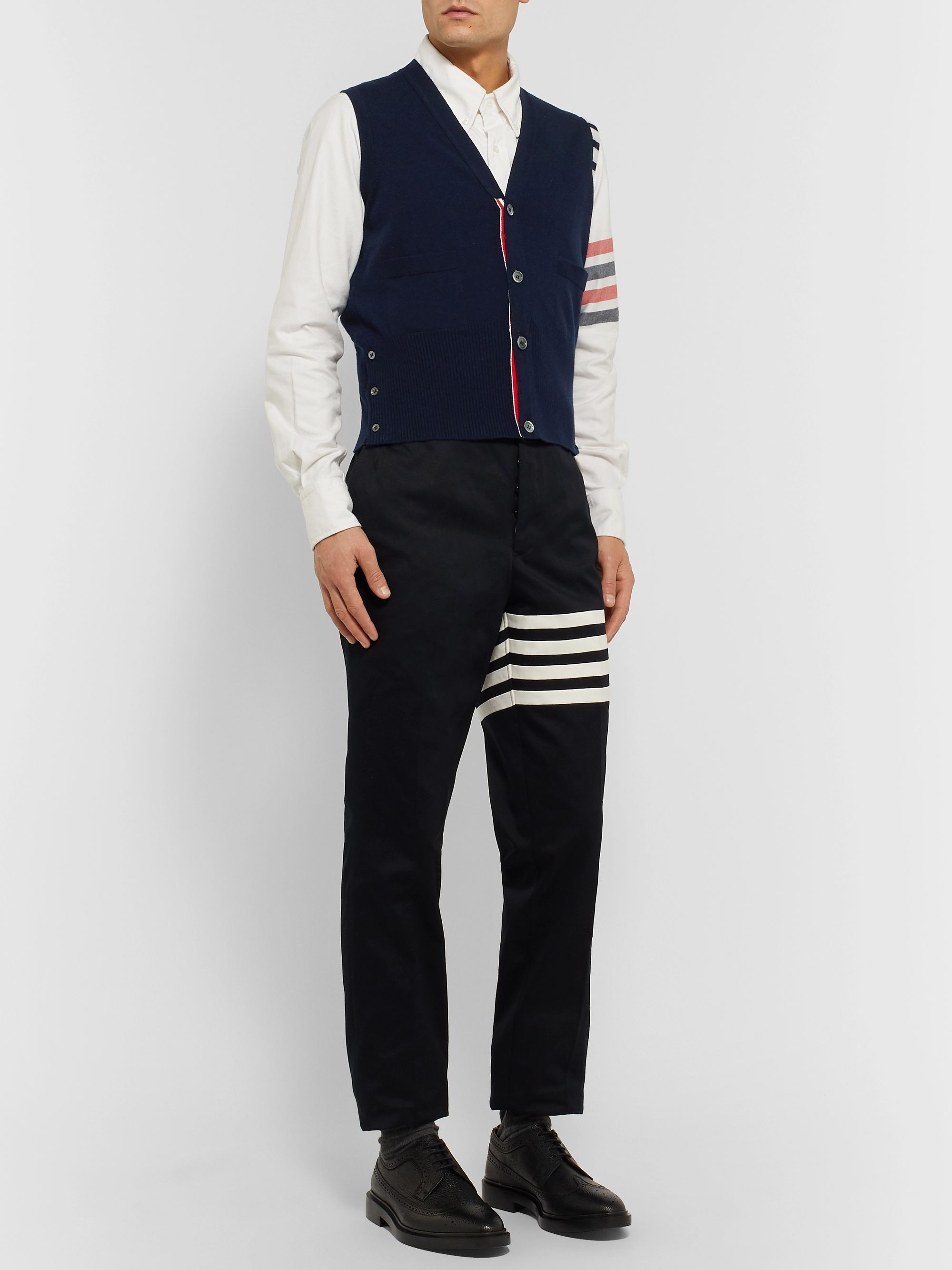 Thom Browne Striped Cashmere Sweater Vest