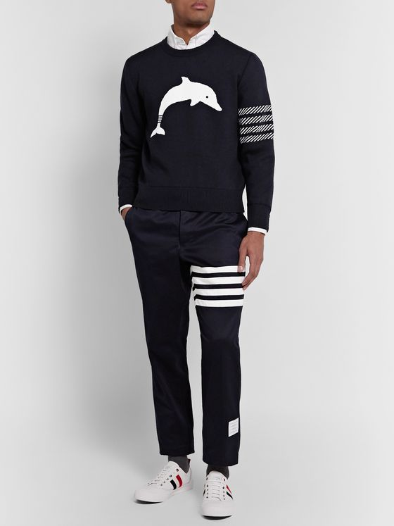 Thom Browne Merino Wool-Blend Jacquard Sweater