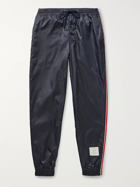 Thom Browne Tapered Grosgrain-Trimmed Ripstop Track Pants