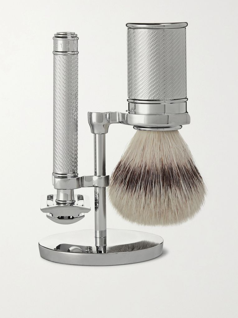 Mühle Chrome-Plated Three-Piece Shaving Set
