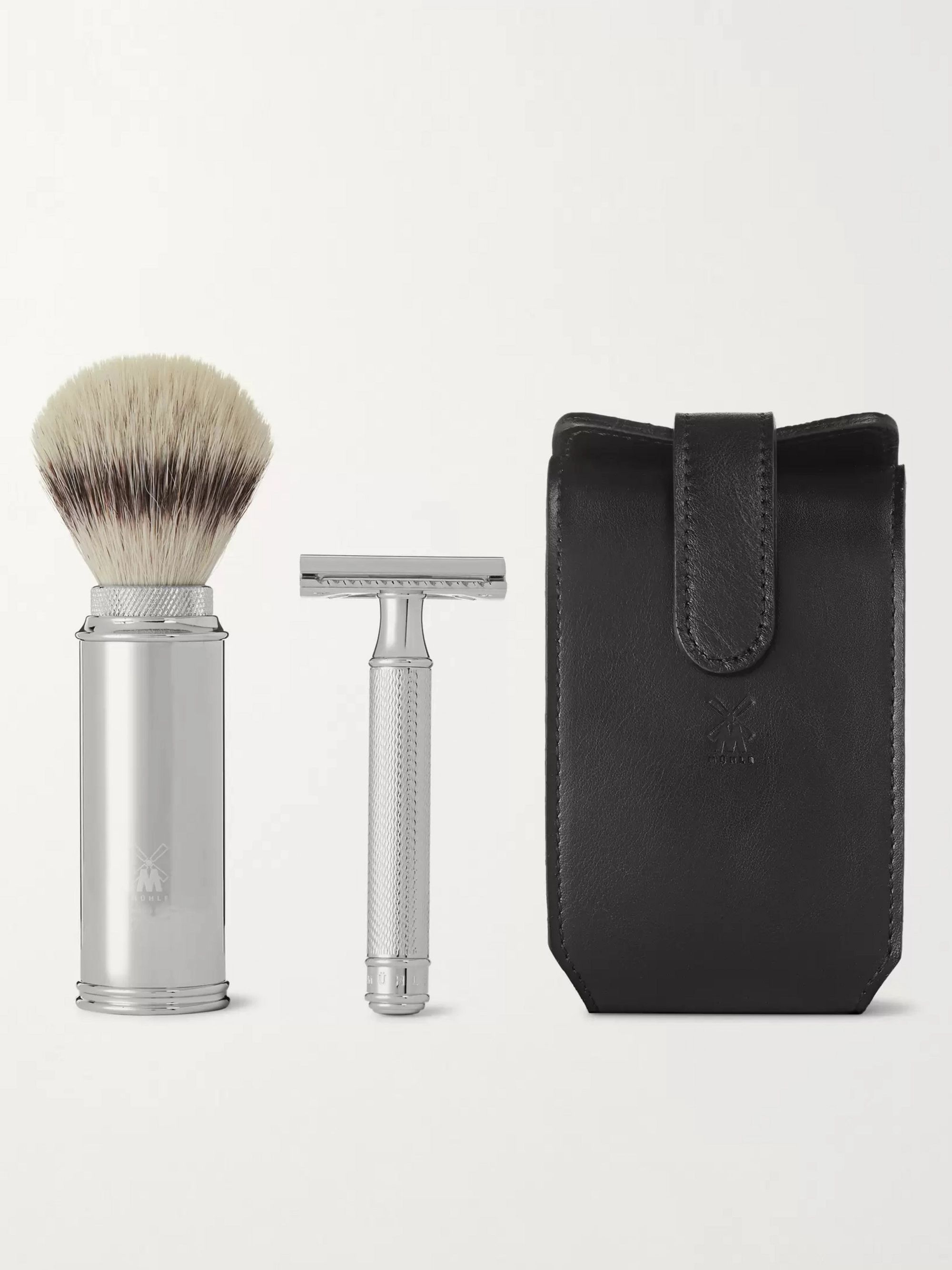 Mühle Chrome-Plated Safety Razor Travel Shaving Set