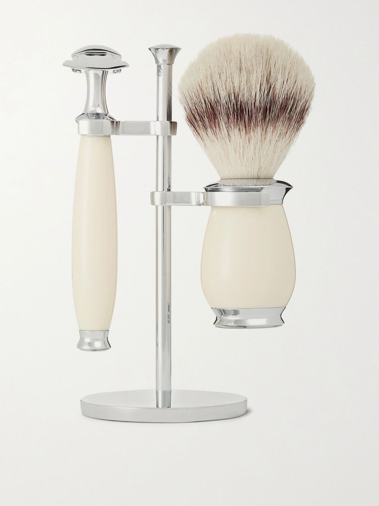 Mühle Purist Three-Piece Chrome and Resin Shaving Set