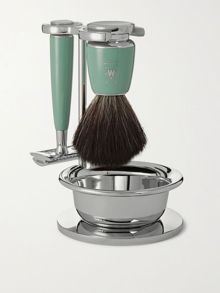 Mühle Mint Resin Four-Piece Safety Shaving Set