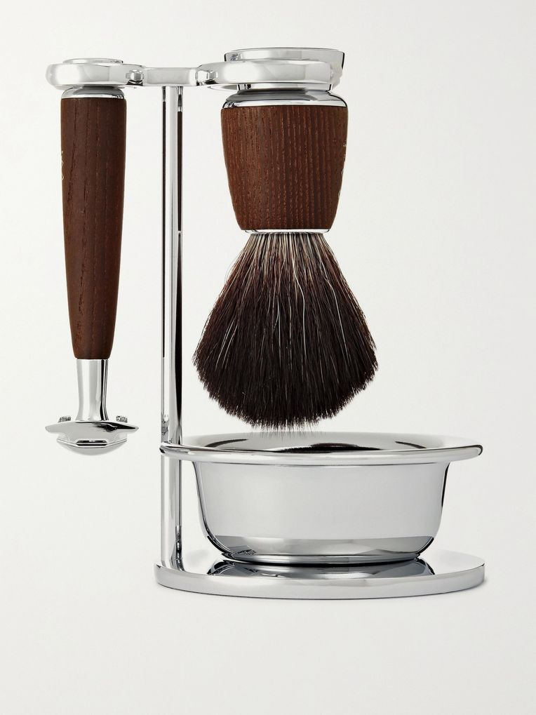 Mühle Rytmo Four-Piece Chrome and Resin Shaving Set