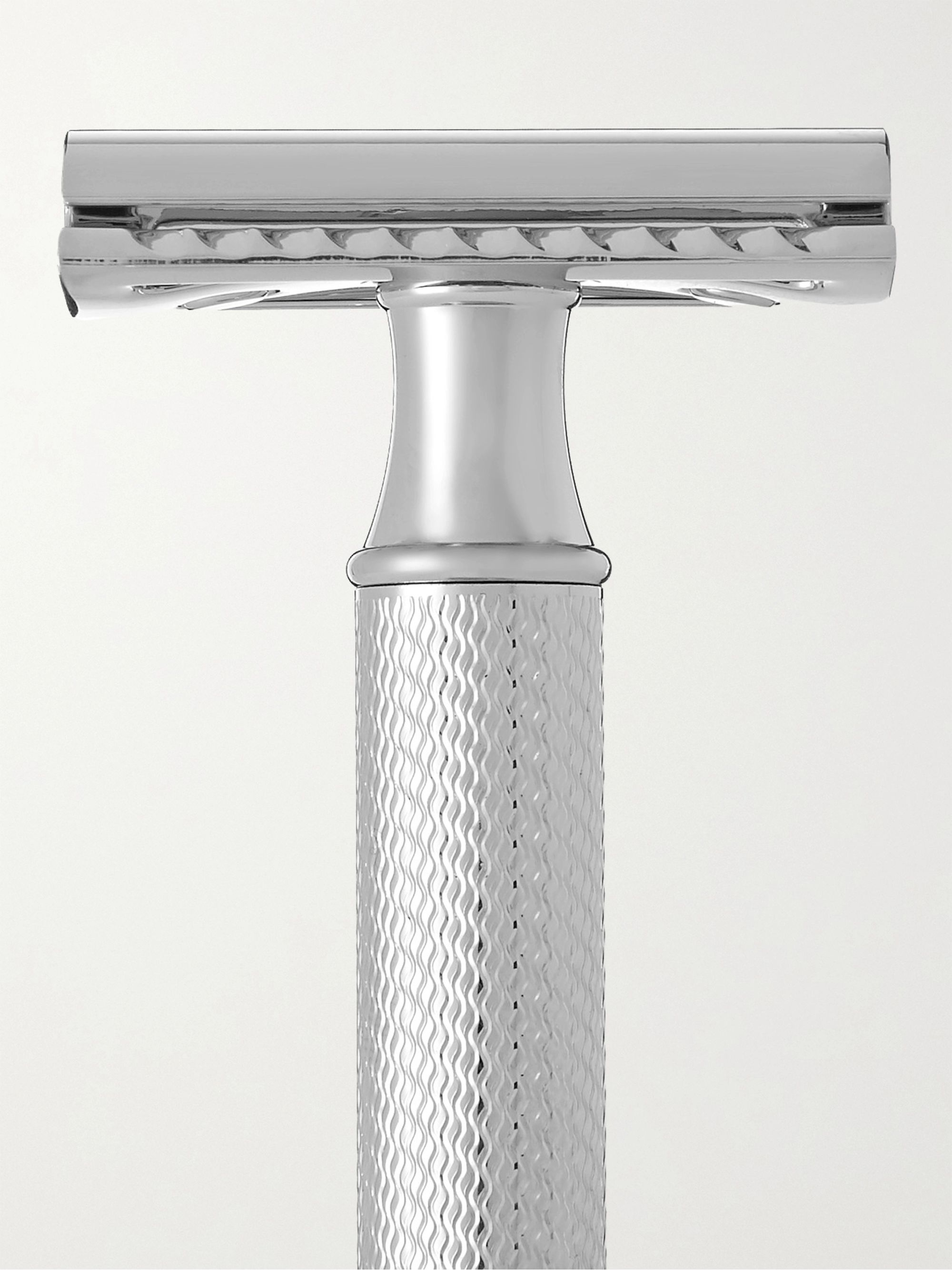 Colorless Chrome Plated and Resin Safety Razor | Mühle | MR