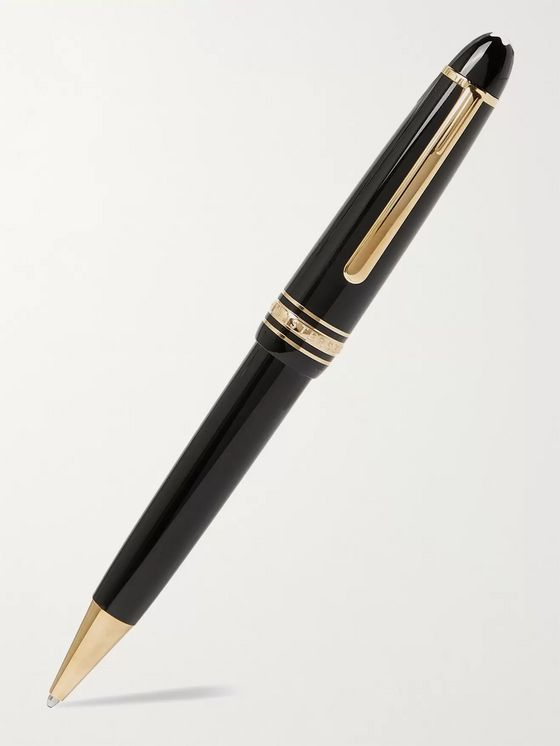 MONTBLANC Meisterstück Le Grand Resin and Gold-Plated Ballpoint Pen