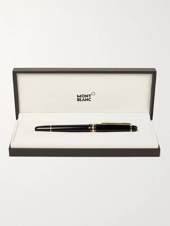 Montblanc Meisterstück Classique Resin and Rhodium and Gold-Plated Fountain Pen