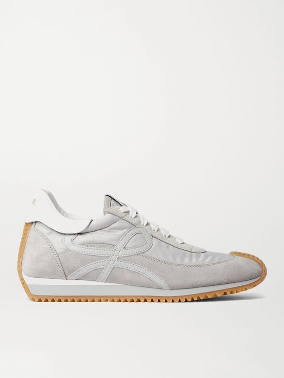 LOEWE Flow Runner Leather-Trimmed Suede and Nylon Sneakers