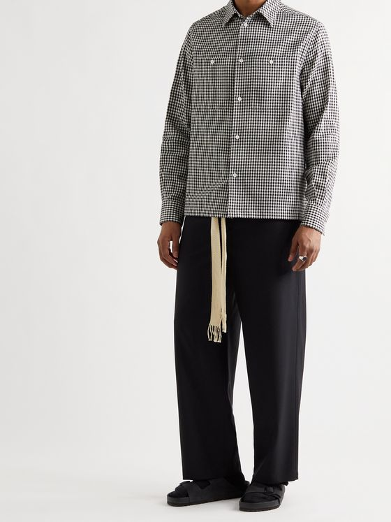 LOEWE Gingham Cotton, Linen and Ramie-Blend Shirt