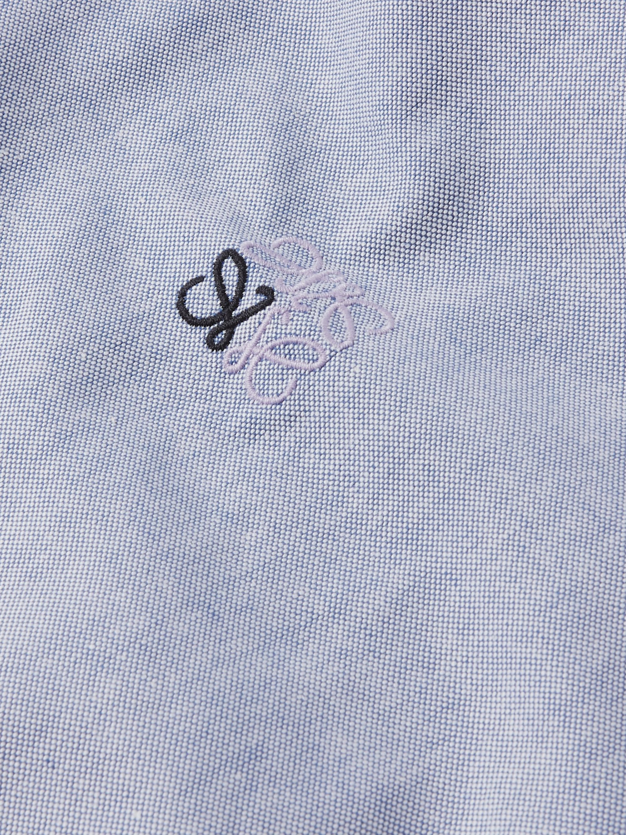 LOEWE Button-Down Collar Logo-Embroidered Cotton-Oxford Shirt