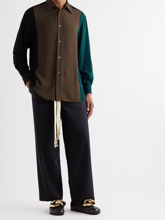 LOEWE Oversized Colour-Block Poplin Shirt