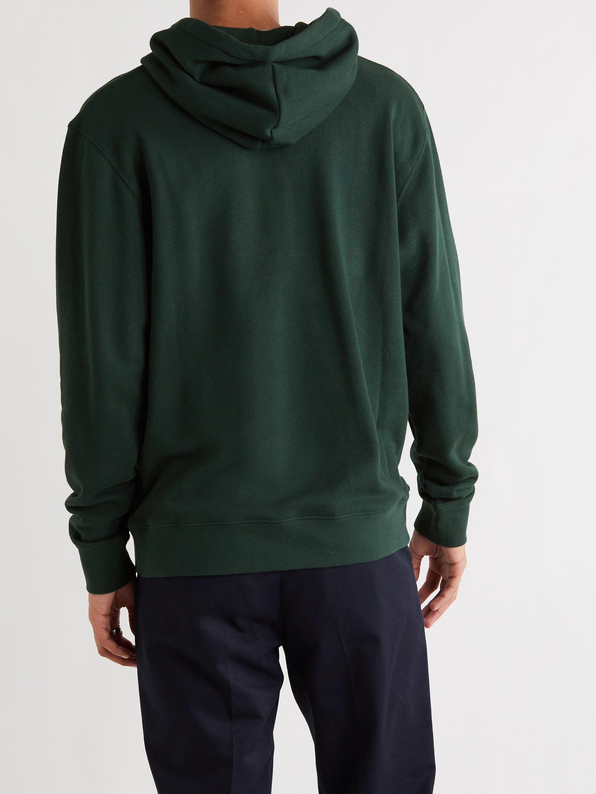 LOEWE Logo-Embroidered Loopback Cotton-Jersey Hoodie