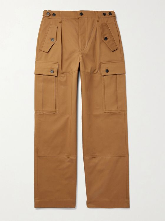 LOEWE Cotton-Drill Cargo Trousers