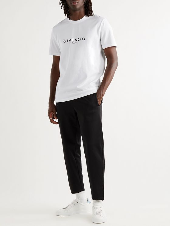 GIVENCHY Slim-Fit Logo-Print Cotton-Jersey T-Shirt
