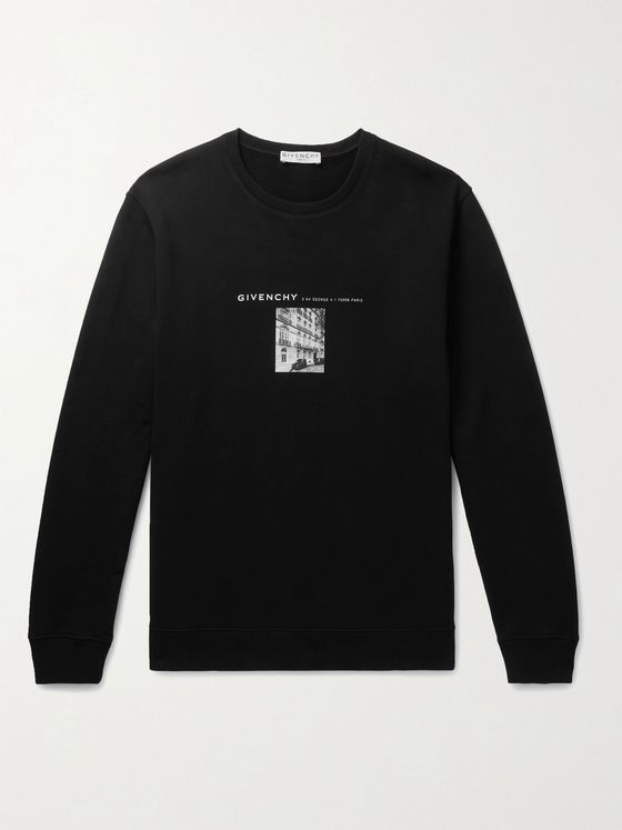 GIVENCHY Logo-Print Cotton-Jersey Sweatshirt