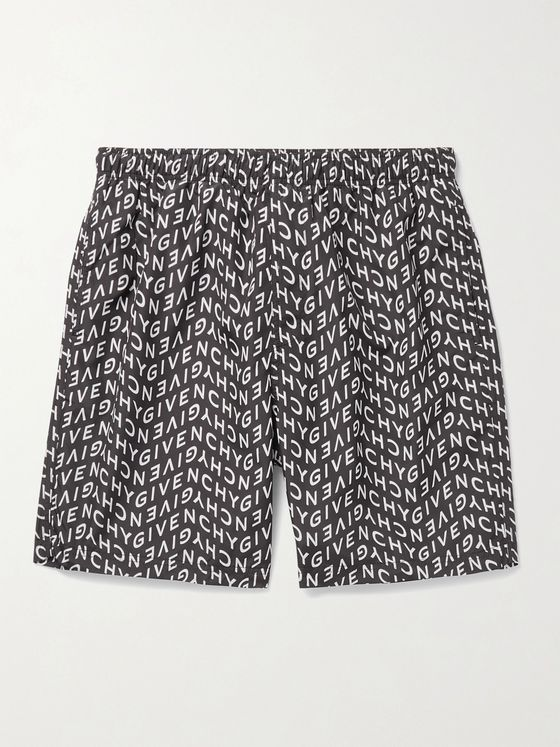 GIVENCHY Long-Length Logo-Print Swim Shorts