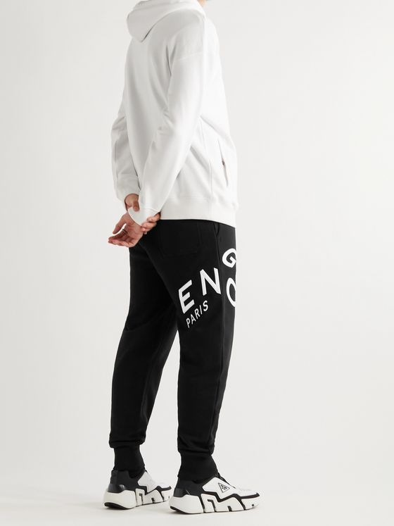 GIVENCHY Tapered Logo-Embroidered Cotton-Jersey Sweatpants