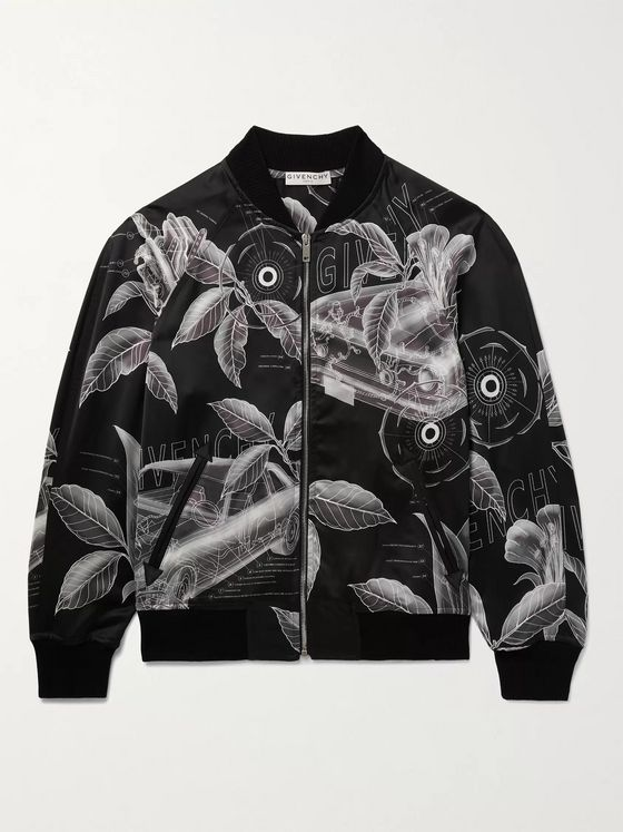 GIVENCHY Printed Satin Bomber Jacket