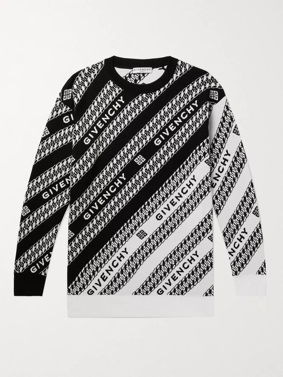 GIVENCHY Logo-Jacquard Cotton Sweater