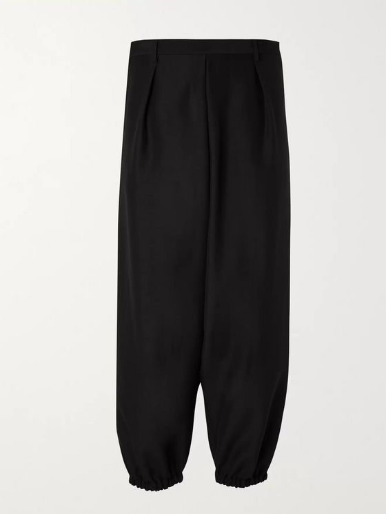 SAINT LAURENT Tapered Wool and Mohair-Blend Trousers