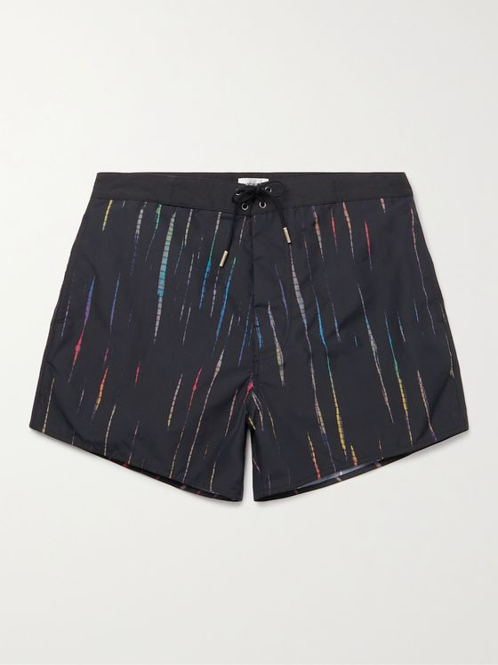 SAINT LAURENT Mid-Length Tie-Dyed Swim Shorts