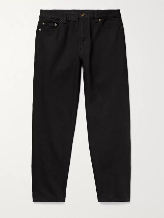 SAINT LAURENT Tapered Cropped Denim Jeans