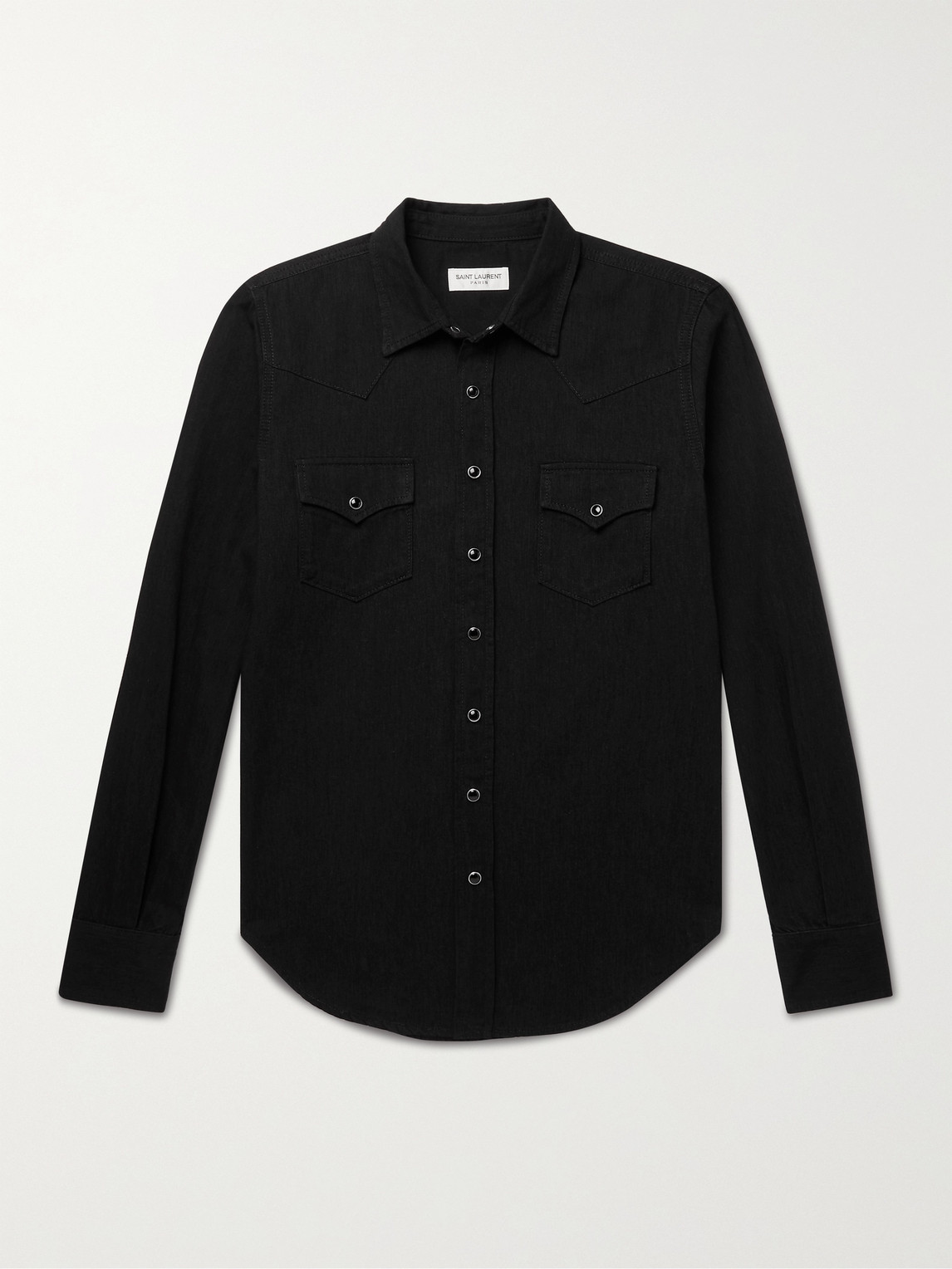 Saint Laurent Jeans SLIM-FIT DENIM WESTERN SHIRT