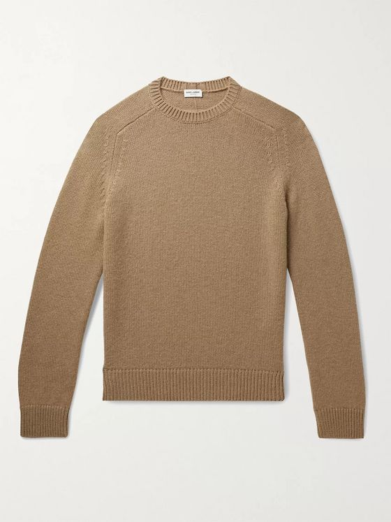 SAINT LAURENT Camel Hair Sweater