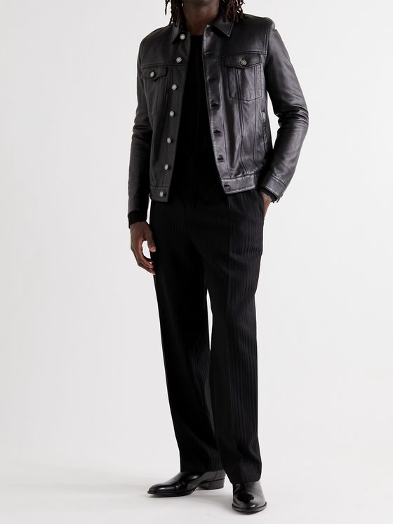 SAINT LAURENT Segovia Leather Jacket