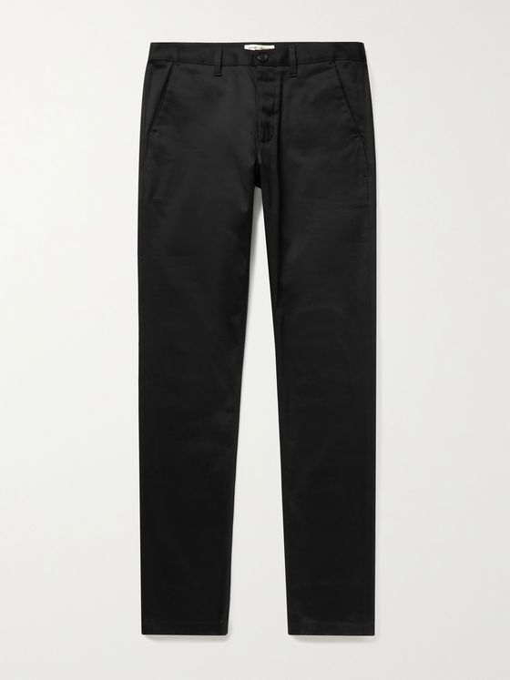 SAINT LAURENT Slim-Fit Stretch Cotton-Blend Twill Chinos