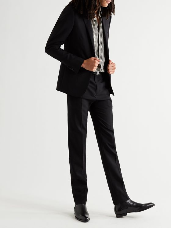 CELINE HOMME Slim-Fit Worsted Wool-Gabardine Suit Jacket
