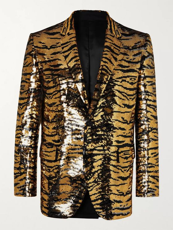 CELINE HOMME Sequinned Wool Blazer