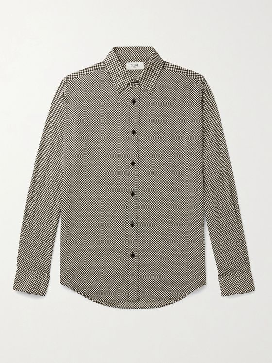 CELINE HOMME Checked Woven Shirt
