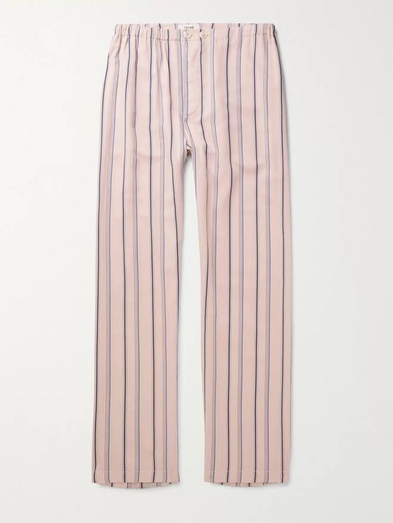 CELINE HOMME Striped Woven Trousers