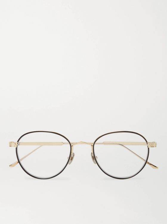 Cartier Eyewear Round-Frame Gold-Tone and Acetate Optical Glasses