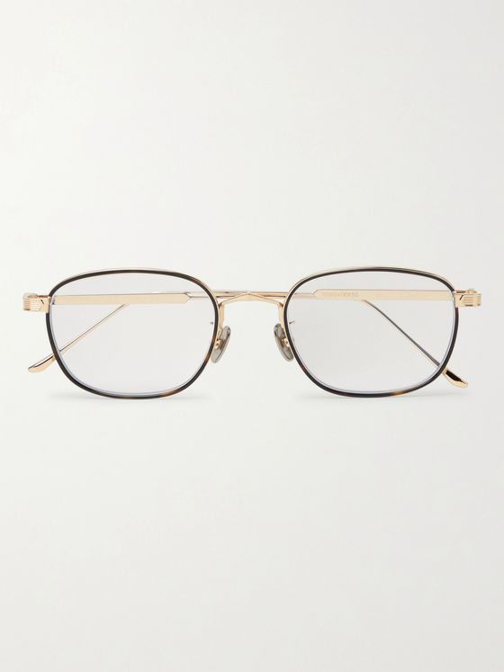Cartier Eyewear Square-Frame Gold-Tone and Tortoiseshell Acetate Optical Glasses