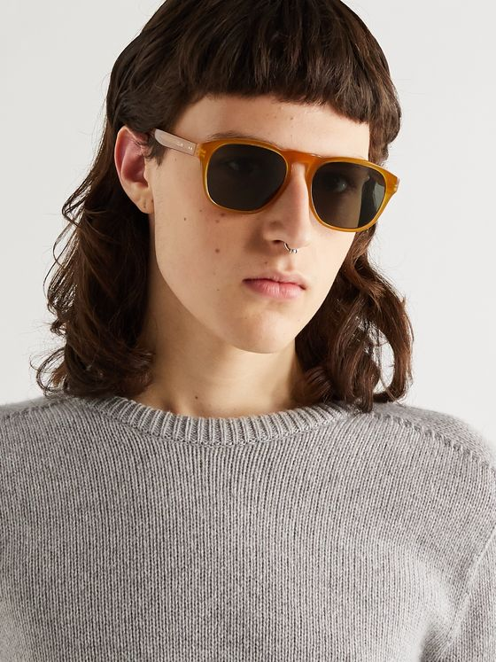 CELINE HOMME Round-Frame Acetate Sunglasses
