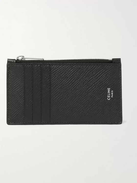 CELINE HOMME Full-Grain Leather Zipped Cardholder