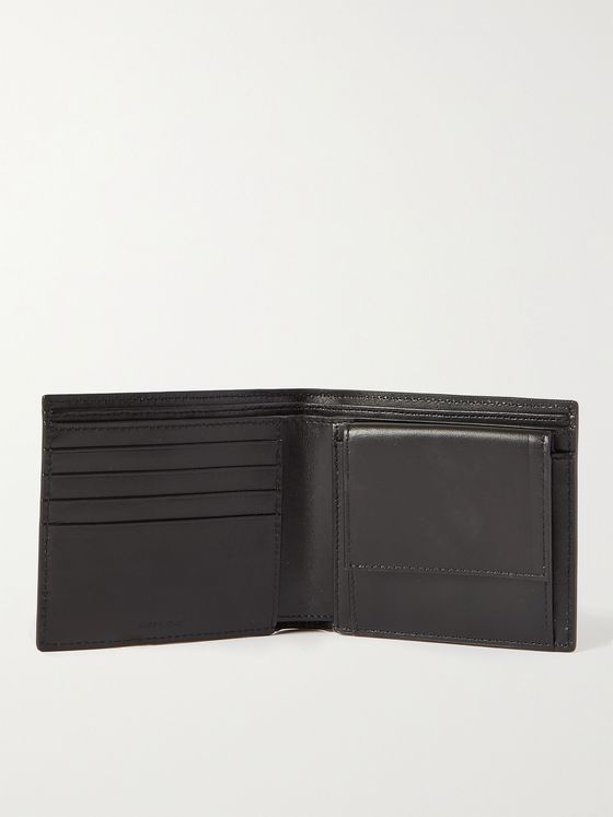 CELINE HOMME Leather-Trimmed Monogrammed Coated-Canvas Billfold Wallet