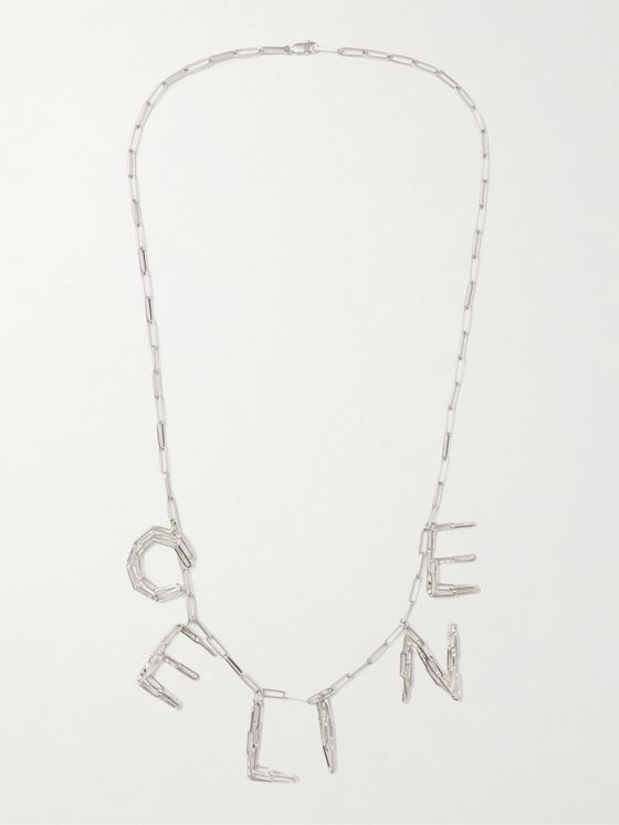 CELINE HOMME Silver-Tone Necklace