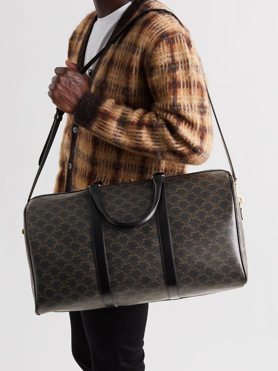 CELINE HOMME Large Printed Coated-Canvas Duffle Bag